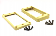 Aged Humbucker Rahmen Set - BONE WHITE - passend für Les Paul ®