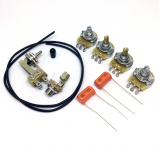 ES335 Elektronik Austausch Set bestehend aus CTS 500k Pots SPRAGUE 0.22mf Capacitors Switchcraft Toggle Switch und Input Jack Gavitt Kabel Schaltplan passend für Gibson ®