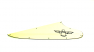 T Bird Schlagbrett 3 Ply Elfenbeinfarben Ivory Neu Schwarzes Logo passend für Thunderbird ®