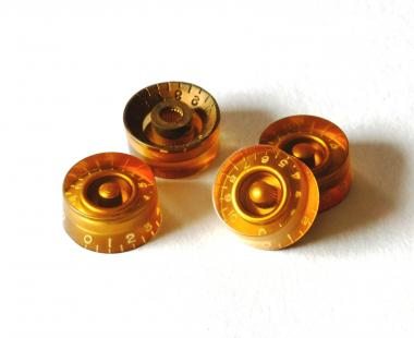 Aged Gold SPEED Poti Knöpfe Set (4) - passend für Les Paul ®