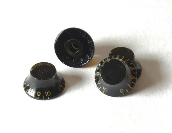 Aged Schwarz BELL Poti Knöpfe Set (4) - passend für Les Paul ®