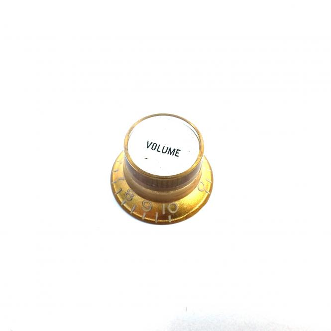 Inch Reflector Poti Knopf Volume Gold (S top)
