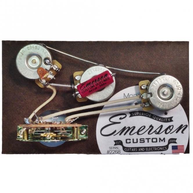 Emerson Custom - Vormontiertes Set S5 - 5 Way - Blender Pot - 500k - fits to Strat®