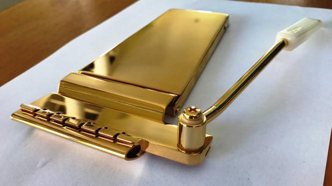 Vibrola Gold Long Vibrato Tailpiece Arm Gibson Vintage Maestro Stil