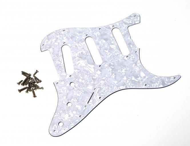 USA SC 62 Weiss PEARL 3PLY Schlagbrett passend für Strat®