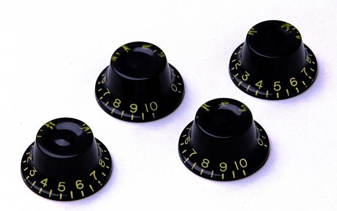Montreux Top Hat Poti Knopf Set Schwarz (4) ver.2 – True Historic Parts