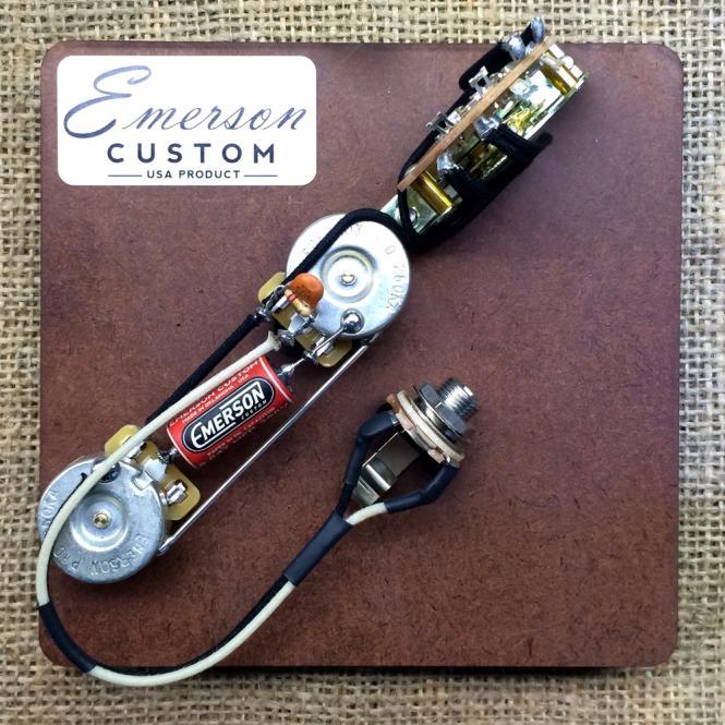 Emerson Custom - Vormontiertes Set T4 - Reverse Control layout - 500k - fits to Tele®