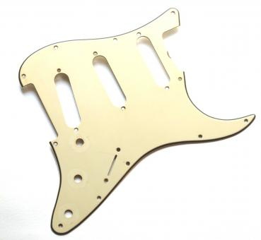 Aged 62 SC Pickguard Parchment 3 Ply 11 Hole GuitarSlinger Parts fits to Strat®