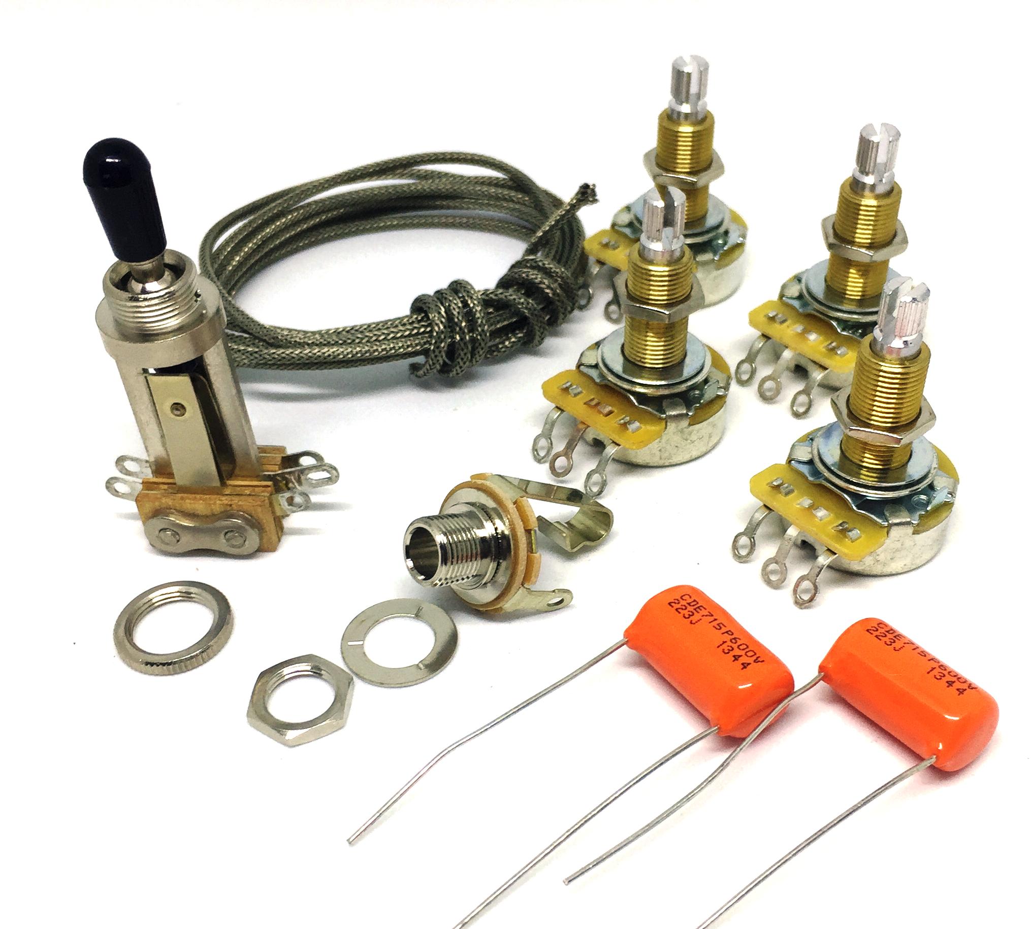 Premium Wiring Kit Elektronik Set für Gibson® Les Paul®