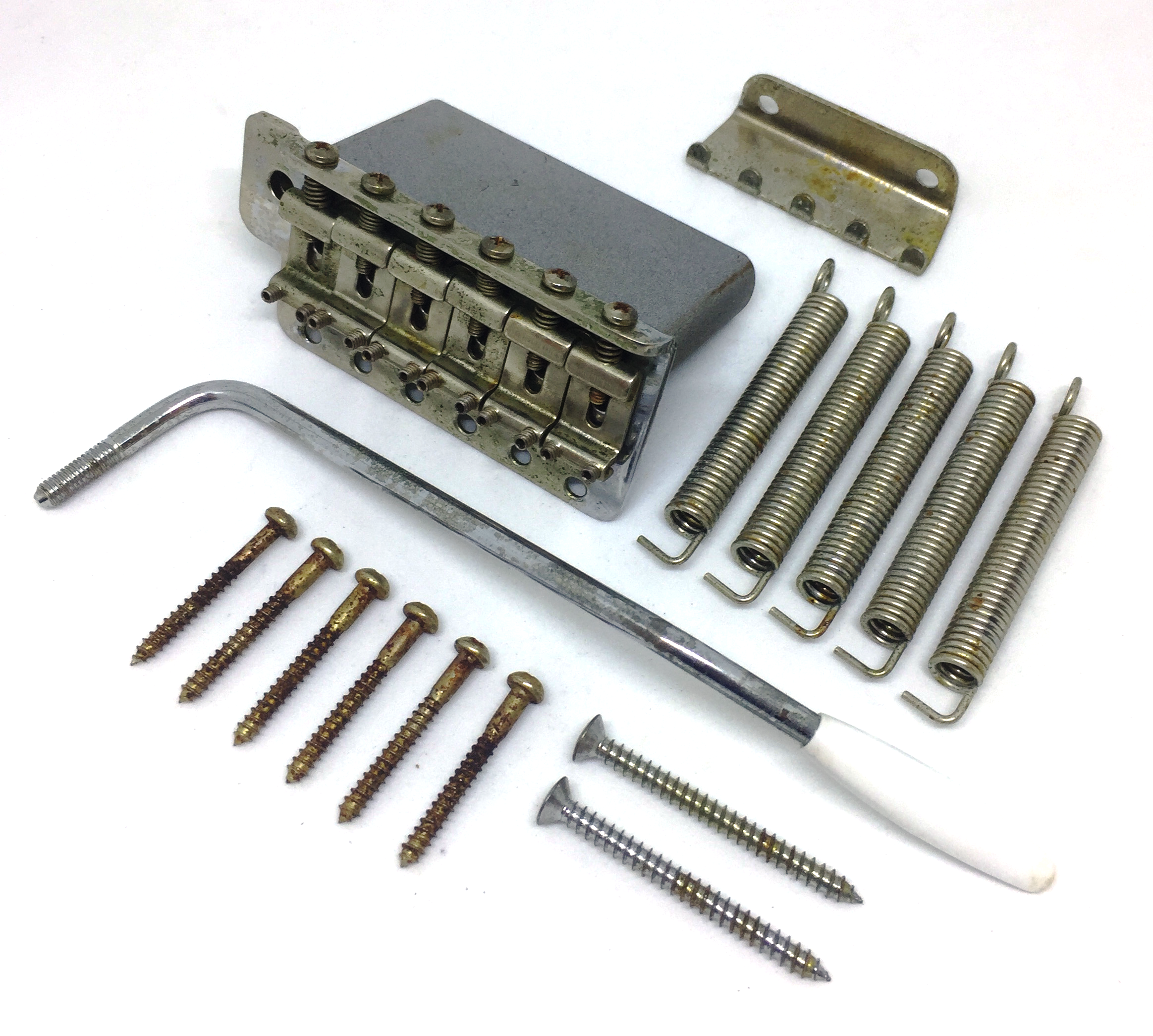 Guitarslinger Products | Aged Tremolo Bridge with Inch Size