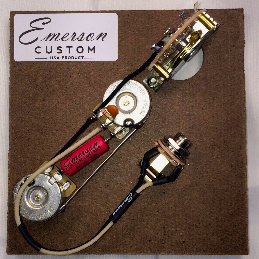 Custom Emerson Wiring Diagrams Library Prewired Kit T5 5 Way Nashville 250k Fits To Tele