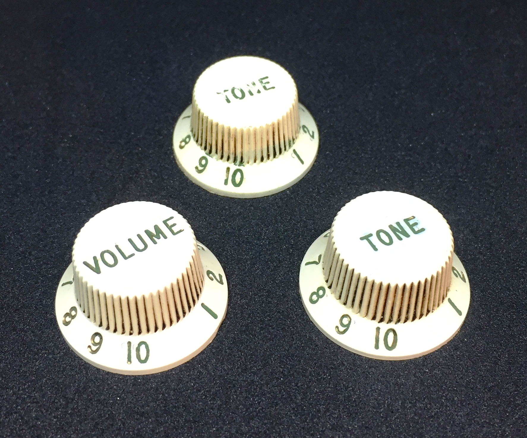 Aged 62 SC Nylon Knob Set White GuitarSlinger Premium Parts fits to Strat ®